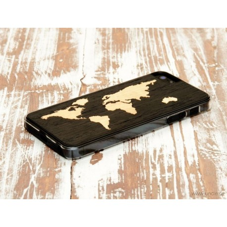 Ebony world map 5 case