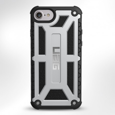 UAG Case for iPhone 7/6S Plus (5.5 Screen) Monarch-Platinum/Black-Visual Packaging